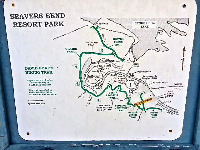 Beavers Bend Map Images