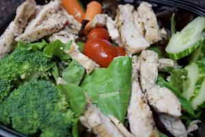 Picture of salad from Rolling Fork Takery